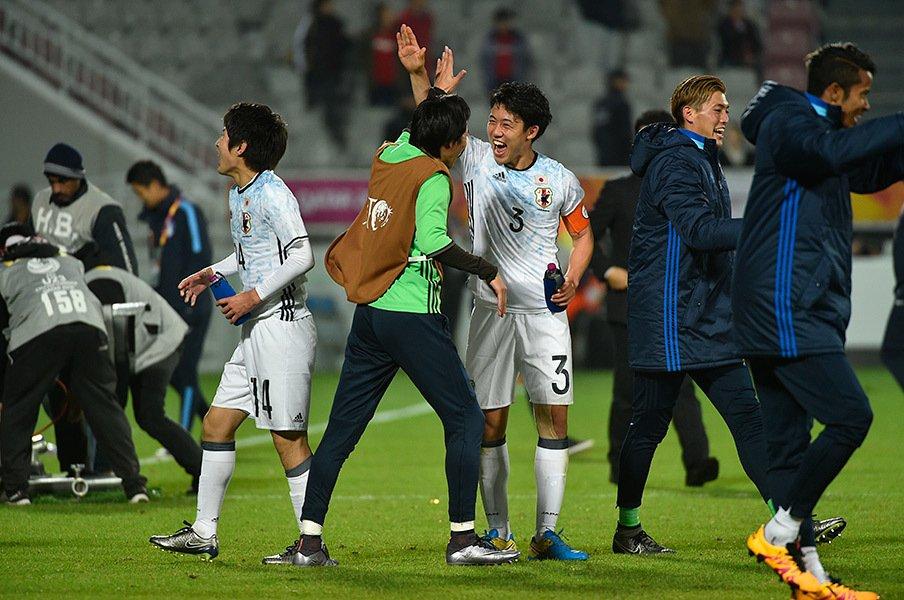 2度世代代表としてアジアで味わった屈辱を越えて、遠藤のこの笑顔がある。