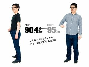 <大減量! ビフォーアフター> 95kgの痩せない体超高血圧編集者Pの「5:2ダイエット」1カ月挑戦記。