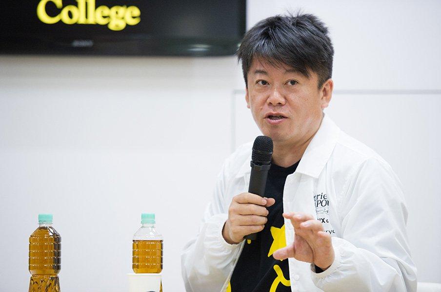 ホリエモンが語る球団買収の裏側。「渡辺恒雄氏に挨拶に行けば……」<Number Web> photograph by Yuki Suenaga