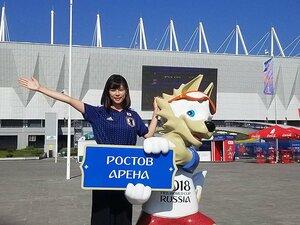 フジ・鈴木唯アナのW杯取材秘話。ロシア人記者の「私も応援していた」。