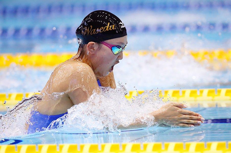 15歳で五輪、19歳で挫折、そして。競泳・渡部香生子が2年ぶり代表復帰!<Number Web> photograph by AFLO