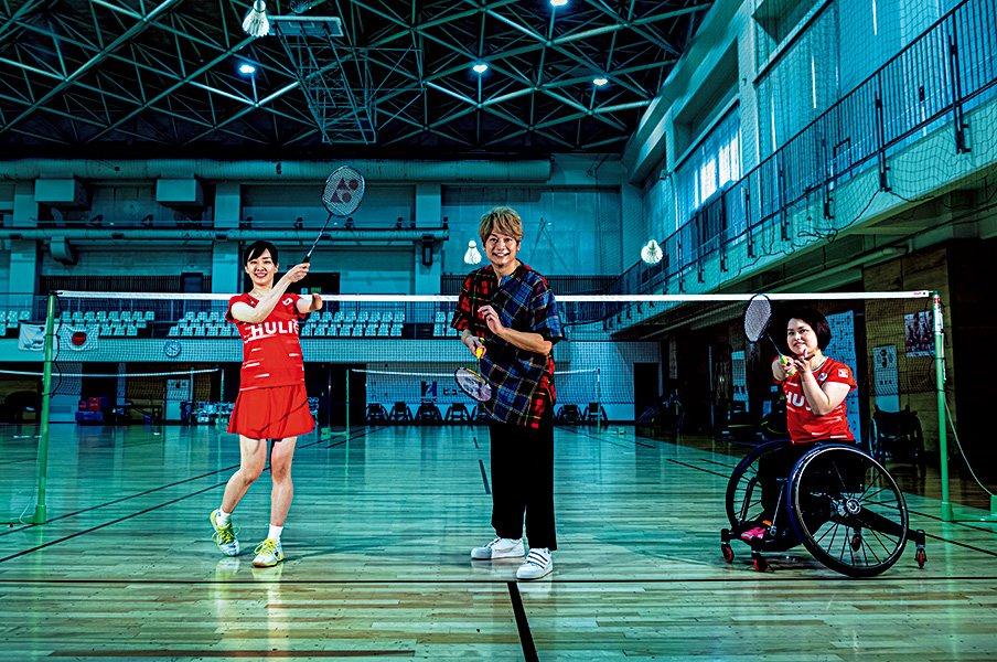 新しい地図・香取慎吾×パラバドミントン。「こんなに速く動ける世界がある」<Number Web> photograph by Takuya Sugiyama