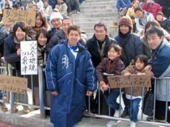 激戦の花園に残されたとある選手の足跡。<Number Web> photograph by Nobuhiko Otomo