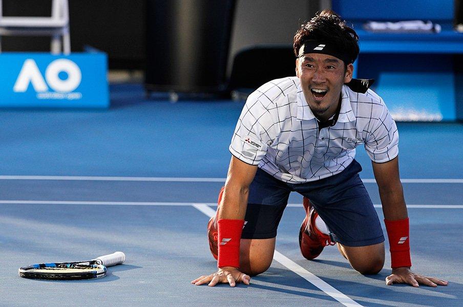 杉田祐一、全豪でトップ10に初勝利!インタビューでの意外な告白とは。<Number Web> photograph by AFLO