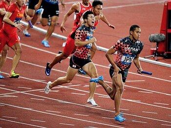 アジア大会でぶっちぎりの金。「四継」の代表争いの行方は?~空前のハイレベル、高まる期待感~<Number Web> photograph by AFLO