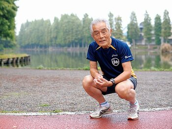 <私とラン> 市民ランナー・楠田昭徳 「息子に背中を押されたギネスへの挑戦」<Number Web> photograph by Asami Enomoto