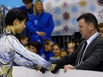 """<世界No.1コーチが明かす>ブライアン・オーサー「ユヅルは""""屈辱""""から多くのことを学んだ」<Number Web> photograph by Takao Fujita"""