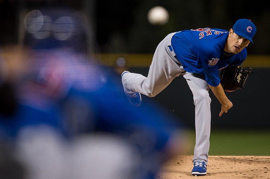 独走カブスと勝率6割5分。メジャー30球団最高の先発投手陣。<Number Web> photograph by Getty Images