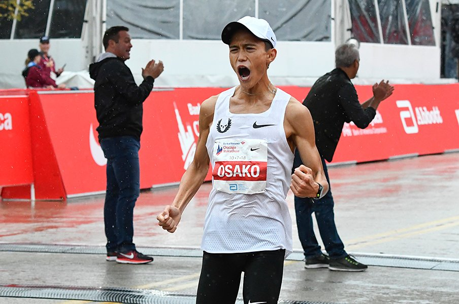 大迫傑が出した日本記録は予兆だ。金哲彦が予言するマラソンの新時代。<Number Web> photograph by AFLO