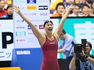 金藤理絵の8年間が込められた泳ぎ。競泳日本選手権を象徴する涙と笑顔。