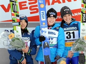 高梨沙羅がW杯2位の快挙、目指すはソチ五輪の表彰台。~期待高まるスキー・ジャンプ女子~<Number Web> photograph by AFLO