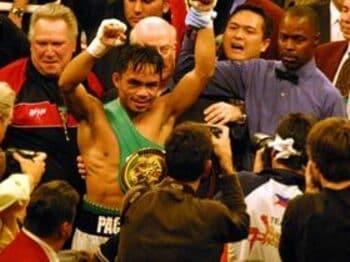モラレスをねじ伏せたフィリピンの英雄。<Number Web> photograph by Sumio Yamada