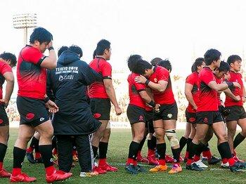 東芝に負けた帝京大、大粒の涙……。日本選手権、学生vs.社会人の白熱。<Number Web> photograph by Tamon Matsuzono