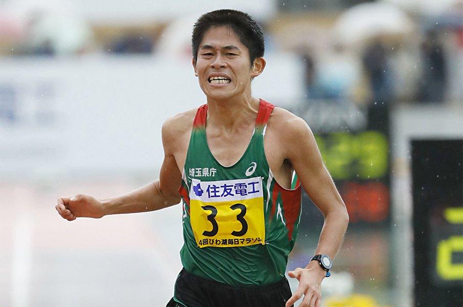 川内優輝のプロ転向は、なぜ今?「オンリーワンのプロランナーに」<Number Web> photograph by Kyoto Shinbun/Kyodo News Images