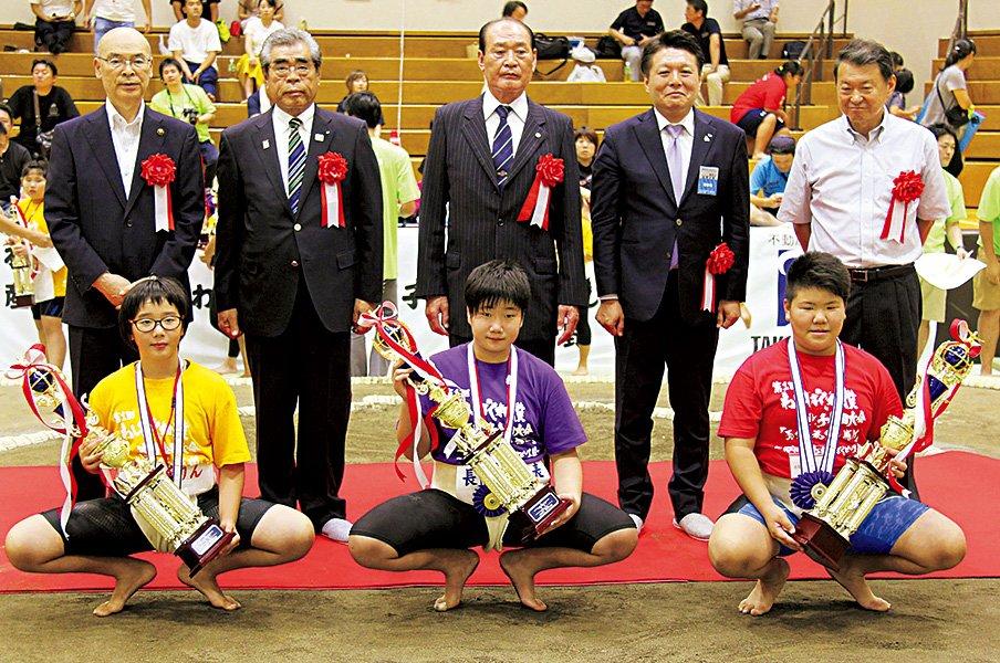 第1回わんぱく女子相撲、開催。国技館の土俵には上がれずとも。~初の全国大会は、五輪への一歩~<Number Web> photograph by KYODO