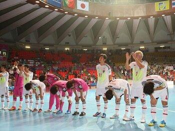 サッカー日本代表が辿った道程へ。フットサルW杯の健闘が残したもの。<Number Web> photograph by Kenzaburo Matsuoka/AFLO