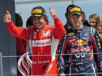 ルール改定問題をかわしたフェラーリの記念碑的勝利。~アロンソの浮上が意味するもの~<Number Web> photograph by Hiroshi Kaneko