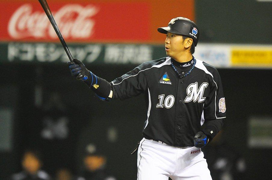 """後に""""史上最大の下克上""""と呼ばれた2010年シーズンに活躍した大松。この時の日本シリーズでの怪我が、後に大きく響くことになった。"""