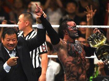 里帰りしたWWEのスーパースター!元新日のベイラーが日本公演で戴冠。<Number Web> photograph by Essei Hara