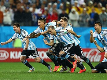 最強の攻撃陣を封じあった120分間。アルゼンチン、'90年以来の決勝へ。<Number Web> photograph by Getty Images