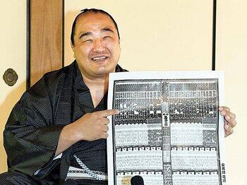 最年長で再入幕の安美錦。「家族のために頑張ろうとね」~39歳、3児のパパは相撲界の宝である~<Number Web> photograph by KYODO