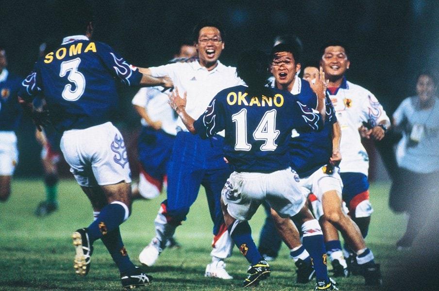 監督・相馬直樹の胸に刻まれた、ジョホールバルの歓喜と岡田采配。<Number Web> photograph by AFLO