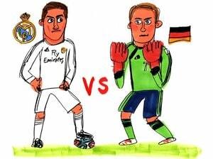W杯王者ドイツと欧州CL王者レアル・マドリー、もし戦ったら勝つのは?