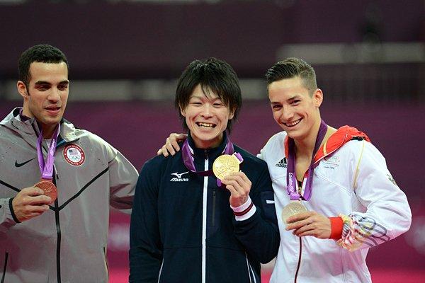 グエン(独)、レイバ(米)と内村航平。~ロンドン五輪2012~