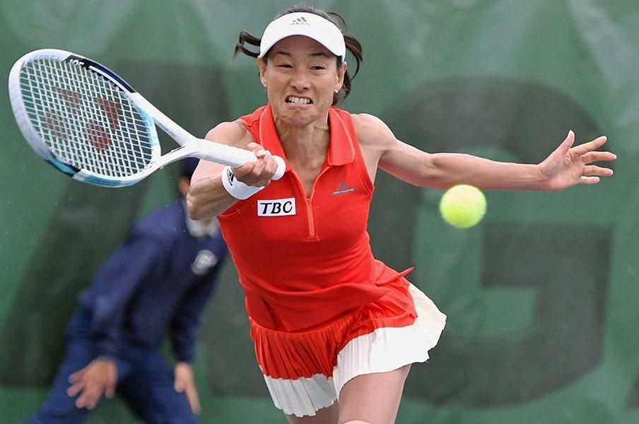 伊達公子46歳、復帰戦での喜び。「何より1ポイントが取れました!」<Number Web> photograph by Kyodo News