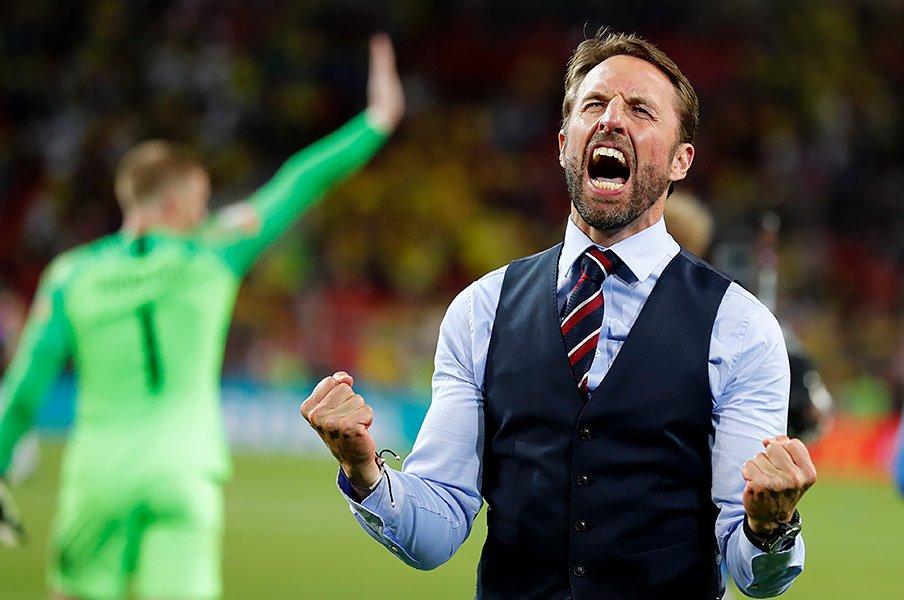 イングランドのW杯が久々に熱い!PK戦の呪いを解く8強で英雄扱い。<Number Web> photograph by Getty Imges