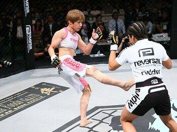 """女子格闘技のレジェンド、藤井惠引退。彼女が示し続けた""""闘う意味""""とは。<Number Web> photograph by Susumu Nagao"""