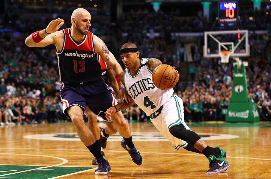 NBAプレイオフベスト8が激アツに! セルティックス対ウィザーズに大注目。<Number Web> photograph by Maddie Meyer/Getty Images