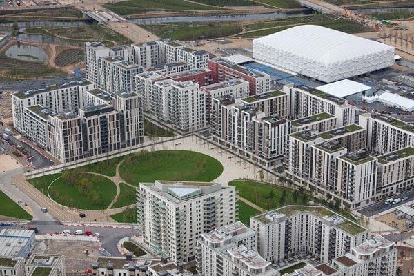 <ロンドン五輪2012> 最大1万6000人が宿泊できる選手村の宿泊棟