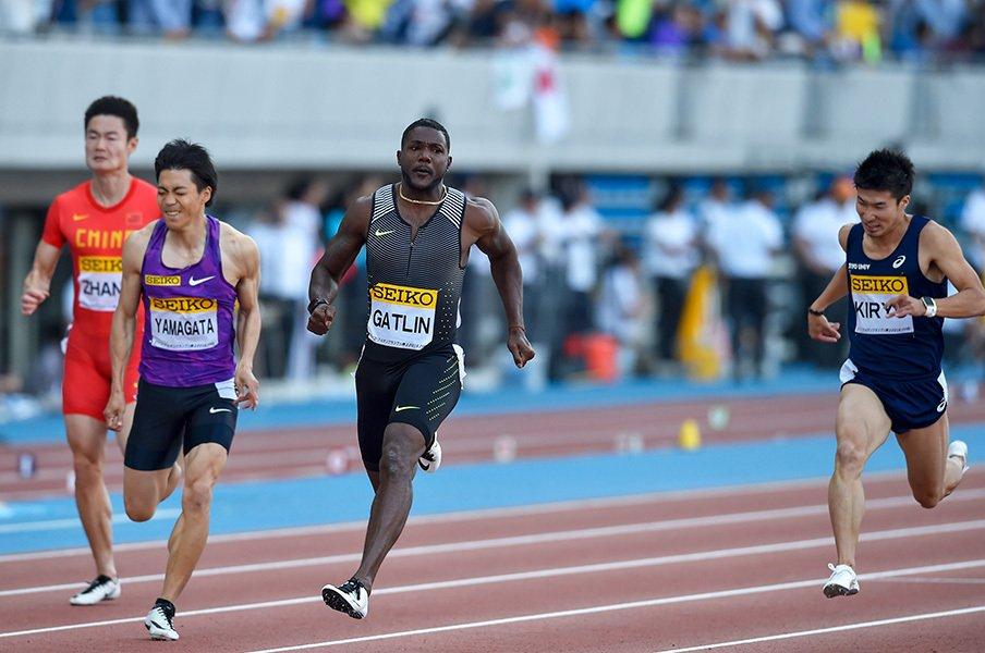 100mの奥深さを思い知った川崎GG。ガトリンに挑んだ桐生と山縣の「明暗」。<Number Web> photograph by Koki Nagahama/Getty Images