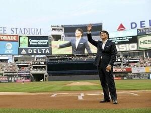 """松井秀喜とヤンキースの幸福な関係。""""日本の""""野球殿堂入りを祝う式典。"""