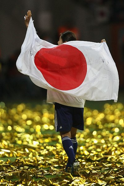 サッカー女子W杯2011決勝、日の丸を背負った澤穂希