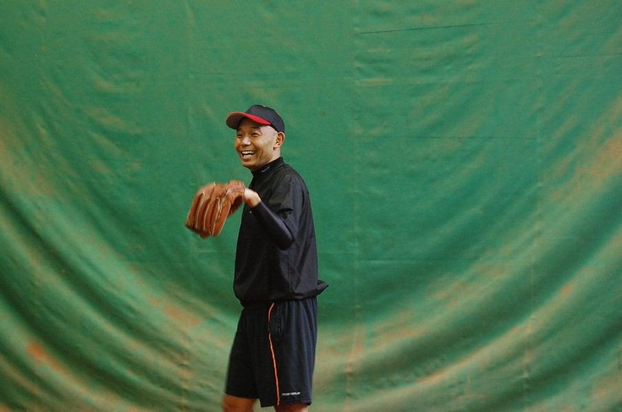 「放課後3時から遅くて11時まで練習していた。休日はずっと練習だった」と高校時代を語る杉浦。
