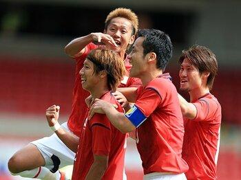 """吉田や林、OA枠の選手の想い……。急速に強まる関塚ジャパンの""""絆""""。<Number Web> photograph by Press Association/AFLO"""