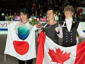スケートカナダは予想外の展開に。P・チャン連覇と羽生結弦2位スタート。
