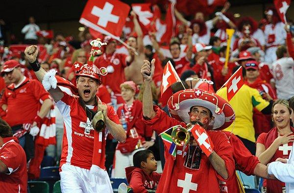 スイスのサポーター