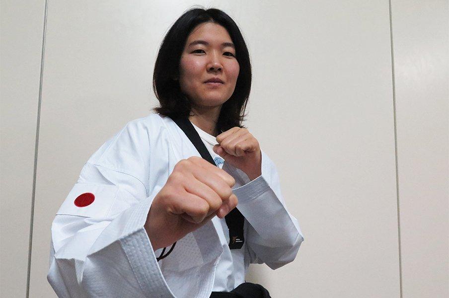 テコンドー元世界女王・濱田真由が30%の出来でも日本一を狙う理由。<Number Web> photograph by Koji Fuse