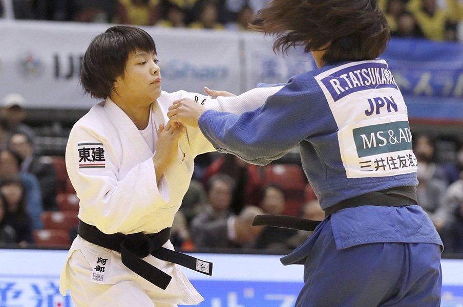 女子52kg級に名乗りをあげた阿部詩。一二三との兄妹東京五輪は射程圏内。<Number Web> photograph by Kyodo News