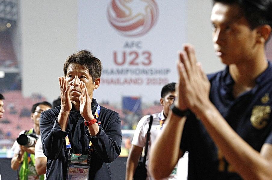 西野朗率いるタイ、東京五輪なるか。時間の使い方は未熟も気概はある。<Number Web> photograph by Kyodo News