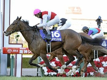ショウナンアデラは凱旋門賞を勝つ?阪神JF、伸びしろある末脚の可能性。<Number Web> photograph by Kyodo News