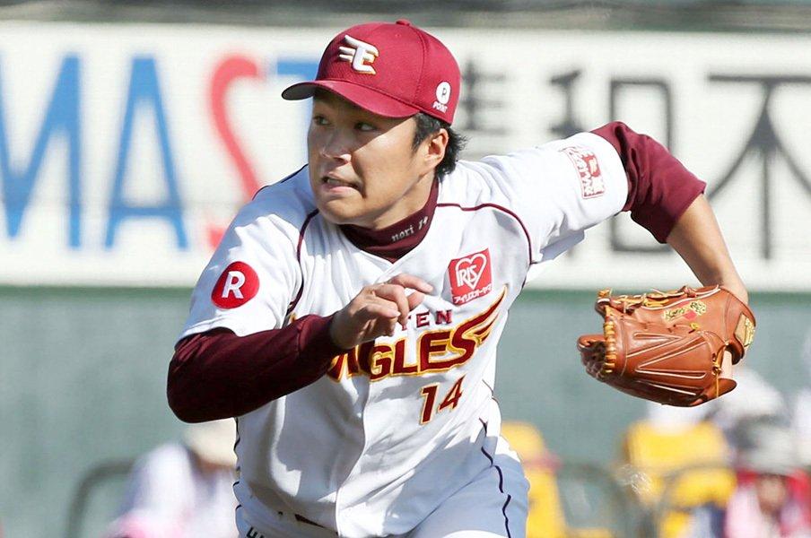 則本昂大、3年連続ミスターKの球質。マー君から引継ぎ損ねている物は?<Number Web> photograph by Kyodo News