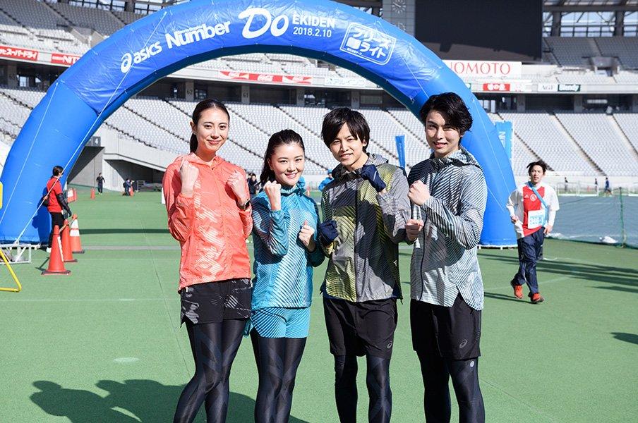 サムデイのタレントたちが『Number Do駅伝』を激走。「タスキがあるから頑張れたと思います!」<Number Web> photograph by hirofumi kamaya