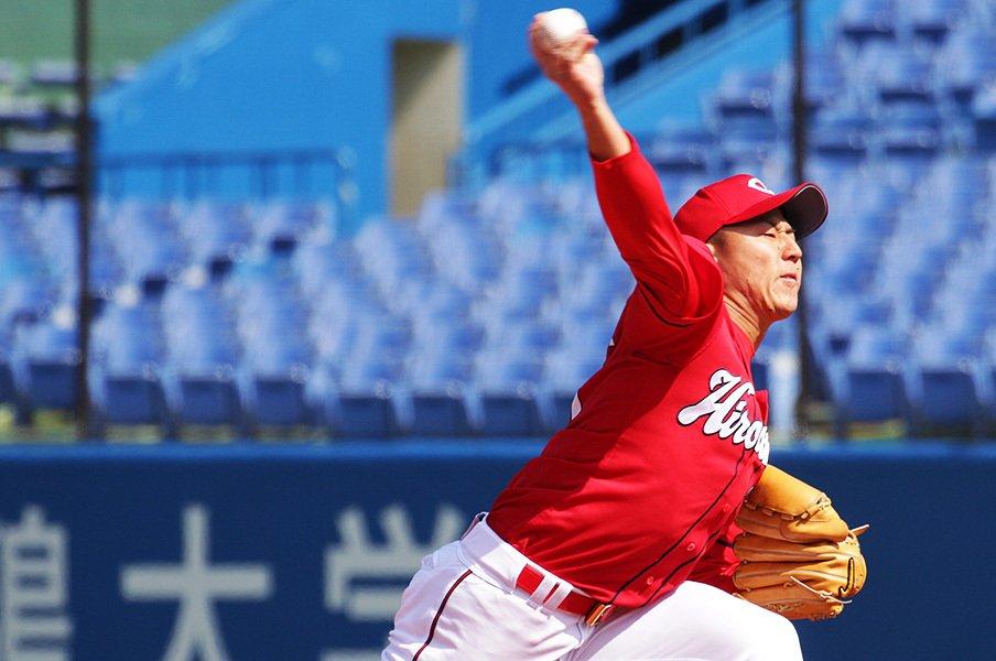 忘れちゃいけない広島のキーマン。福井優也、成長して投手陣の柱に。<Number Web> photograph by NIKKAN SPORTS