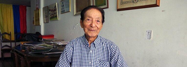 コロンビアのバランキージャ市で現在も仕事を続けている道工氏。その眼差しは「サムライ」の文化を思わせる精悍さを湛えていた。 / photograph by Toyoo Kitazawa