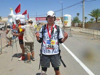 ついにサハラ砂漠252kmを完走……。地獄のマラソンを通じて分かったこと。<Number Web> photograph by Takashi Matsuyama