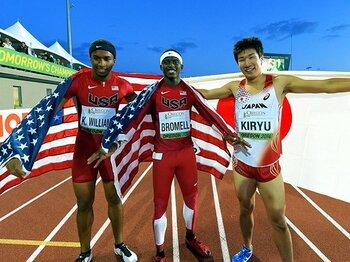 """""""東京五輪世代""""の躍進。~世界Jr陸上で輝いた日本人選手~<Number Web> photograph by AFLO"""